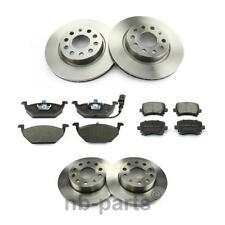 4x Discos de Freno + Forros Delantero + Trasero 280/256mm Audi Seat Skoda VW Kit