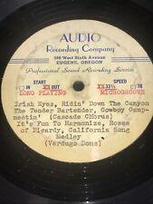 1955 Test Press LP Barbershop Quartets: Millertones, Cascade Chorus,Verdugo Dons