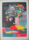 GUIRAMAND Paul - Lithographie signée numérotée bouquet fleurs d'Odette