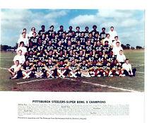 1976 PITTSBURGH STEELERS SUPER BOWL X 8X10 TEAM PHOTO  FOOTBALL NFL USA