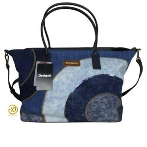 Desigual Woman Gravity Holbox Tote Bag Blue Color gi02
