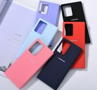 Silicone Back Phone Case For Samsung Note 20 Ultra Fitted Protective Cover Skin