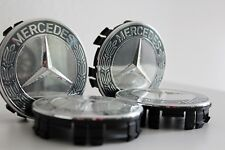 Original Mercedes Amg Radkappen Naben Deckel Loorbeerkranz Grau SATZ sehr selten