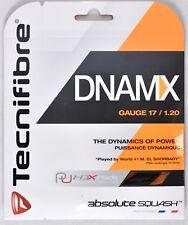 Tecnifibre Dnamx Black 1.20mm 17g Gauge Squash String Set 100% Elasticity >New<