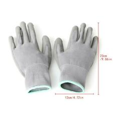 1 Pair Nylon Pu Palm Coated Protective Safety Work Gloves Garden Grip Builders