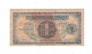 Chile -  One (1) Peso, 1942