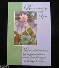 Leanin Tree Sympathy Funeral Memorial Flowers Greeting Card Multi Color R175