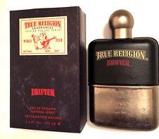 NEW - True Religion Drifter for Men - EDT Spray - 3.4 OZ / 100 ML - Box Cut Top