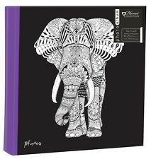 "Zen Elephant Large 6"" x 4"" 200 Photos SlipIn album photo avec memo zone"