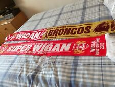 More details for wigan warriors scarves new unused  cup+world + glass rugby ball wigan v halifax