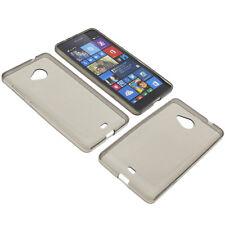 BOLSA para Nokia Lumia 535 FUNDA PROTECTORA DE MÓVIL TPU GOMA FUNDA GRIS