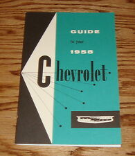 1958 Chevrolet Owners Operators Manual 58 Chevy