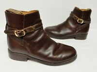 Cavaletti Shires Ankle Boots Booties Leather Leicester Brown Straps Size 38