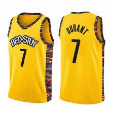 BROOKLYN #7 Durant  Black White Yellow NETS jerseys 2019 new HIGH QUALITY