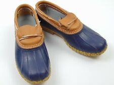 LL Bean Bean Boots 175067 Women's Blue Rubber Low Duck Hunting Rain Boots Sz 11M