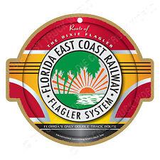 Florida East Coast Railroad Logo Wood Plaque-Sign /Man Cave/Train & Kids