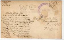 NETHERLANDS: 1945 postcard with NETHERLANDS POST OFFICE SINGAPORE pmk (C39351)