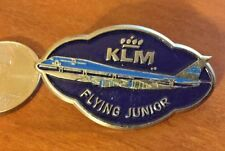 "Vintage 1970's KLM Airlines ""Flying Junior"" Metal Badge Pinback Royal Dutch Air"