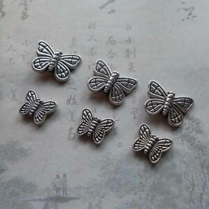 Antique Zinc Butterfly Spacer Beads 10mm 15mm Alloy Bracelet Earrings 30pcs/lot