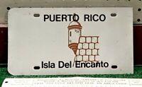 PUERTO RICO - 1986 license plate BLANK - Isla Del Encanto EL MORRO graphic