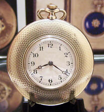 ROLEX ANTIQUE VINTAGE SOLID GOLD 1924 ART DECO MANS POCKET WATCH PRIMA MOVEMENT