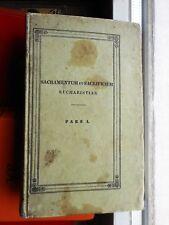 Georgius Fejér (Fejér György): Sacramentum ac sacrificium Eucharistiae I 1835