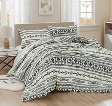 Chezmoi Collection Colby 3-Piece Western Tribal Geometric Printed Comforter Set