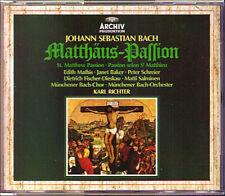 BACH St. Matthew Matthäus-Passion KARL RICHTER Mathis Schreier Fischer-Dieskau