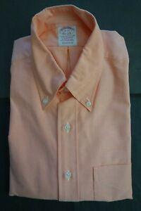 NWOT Brooks Brothers Pastel Orange Supima Button Down 16-33 Madison MSRP $140