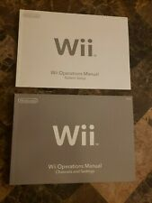 Nintendo Wii System Console User Operations Manual- BRAND NEW