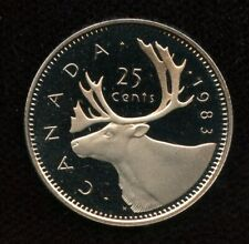 1983 Canada 25 cents Proof Quarter from Mint Set UHCameo