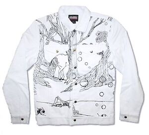 Lady Gaga Art Rave Artpop White Denim Jean Jacket New Official Merch