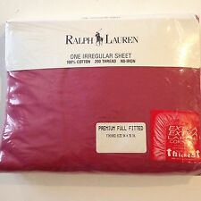 NWT RALPH LAUREN Home Collection Premium FULL FITTED SHEET Cranberry Color