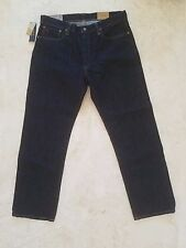 POLO RALPH LAUREN MEN'S DENIM BLUE JEANS 33X30 THE THOMPSON RELAXED FIT $98 NWT