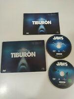 Tiburon Edicion Coleccionistas Steven Spielberg 2x DVD Steelbook Español English