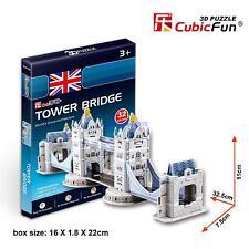 CubicFun 3D Paper Puzzle Model S3010H London Tower Bridge DIY Building Toy 32pcs