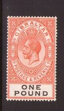 GIBRALTAR 1925 SG107 Red-Orange and black fresh colours, V/L/hinged, Cat. £190