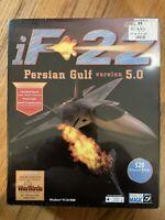 iF-22 Persian Gulf  Version 5.0 (PC, 1998). Simulation WIN95 CD ROM