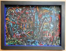 Fun Fair. Abstract Expressionist Oil by listed Durham artist Tom Alderson 1960