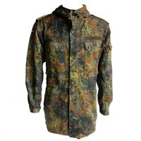 Original Issue German Army Jacket Flecktarn Camo Parka Camouflage Military Coat