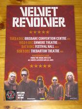 VELVET REVOLVER - SLASH - 2007 Australian Tour - Laminated Poster - GUNS N ROSES