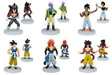 """Dragon Ball AF Figures Set Super Saiyan 5 Goku Son Vegeta Trunks Uub 6x 5"""" NEW"""