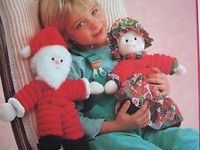 Vintage SEWING PATTERN Jean Greenhowe Stretchy SANTA & MRS CLAUS  Doll Toy