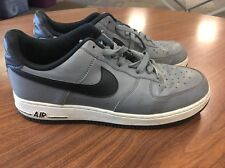 NIKE 488298-086 Air Force 1 Cool Grey Black White Lunar SHOES SIZE 8 C5