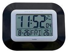 RADIO CONTROLLATO GRANDE SCHERMO LCD A PARETE O SCRIVANIA OROLOGIO (Regno Unito & Irlanda versione)