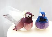 Cheeky Chickadee Wedding Cake Topper: Bride & Groom Love Bird Cake Topper