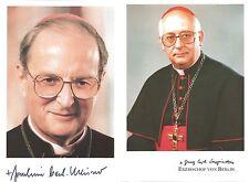 2 Autogramme Kardinal Joachim Meisner und Georg Sterzinsky (beide verstorben)  #
