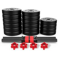 Totall 110~22LB Weight Dumbbell Set Adjustable Cap Gym Barbell Plates Body