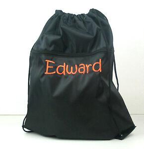 Personalised Embroidered Name Swim Bag, Gym Bag,  Library Bag, Back Pack