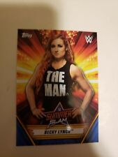 2019 Topps Summerslam WWE BECKY LYNCH 25/25 SILVER Parallel Raw Champion